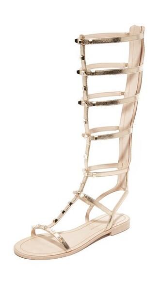 light sandals gold shoes