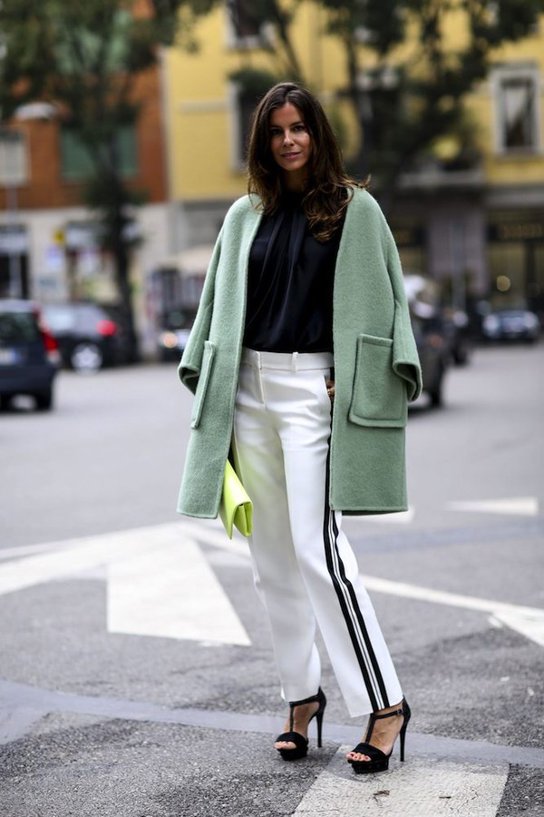 coat pants fashion week 2014 streetstyle