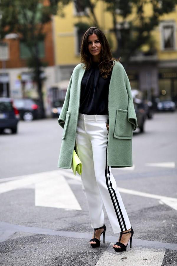 coat pants fashion week 2014 streetstyle