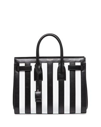 Black And White Striped Handbag | Luggage And Suitcases