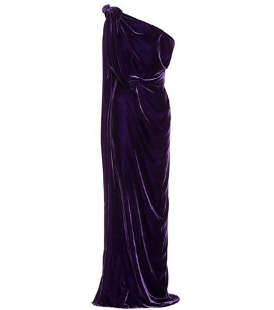 Roland Mouret gown velvet purple dress
