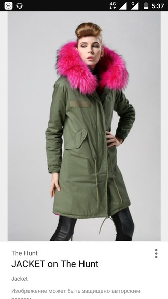 jacket pink fur coat