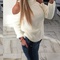 Women's stylish knitted cold shoulders sweater top