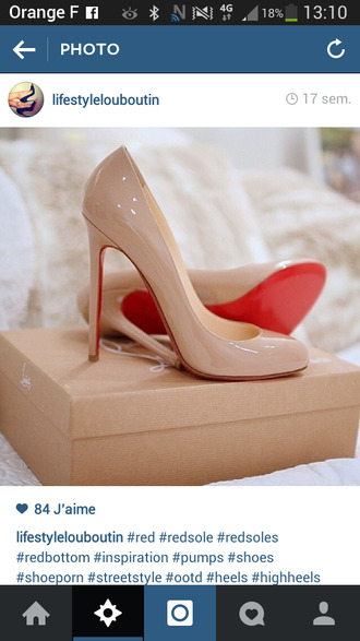 beige beige shoes red sole classy louboutin