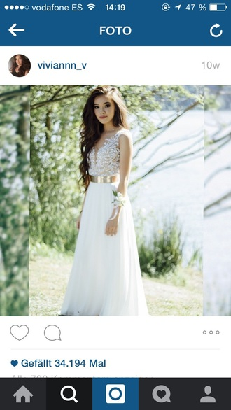 dress white vivian vo-farmer white dress gold prom dress pretty