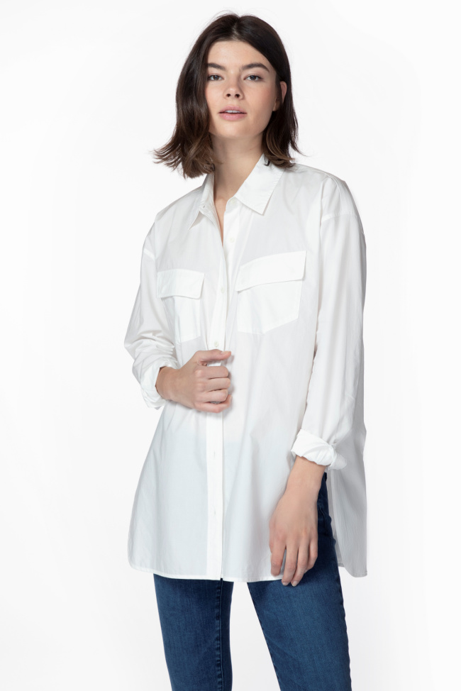 Bryson Oversized Shirt In White