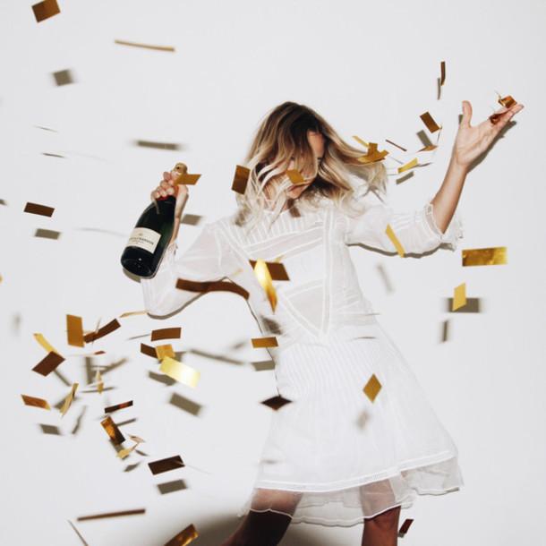 Mija Blogger Romantic Dress Birthday Dress Short Wedding Dress
