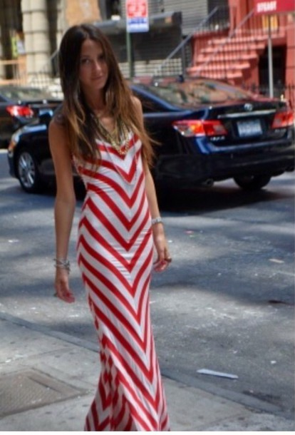 dress boho chic maxi dress chevron summer dress sexy dress red dress summer long dress fashion bodycon dress chic chevron dresses