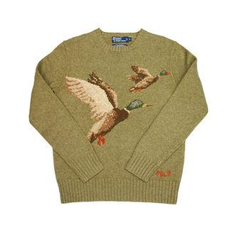 vintage male fashion mallard polo ralph lauren sweater mens sweater duck