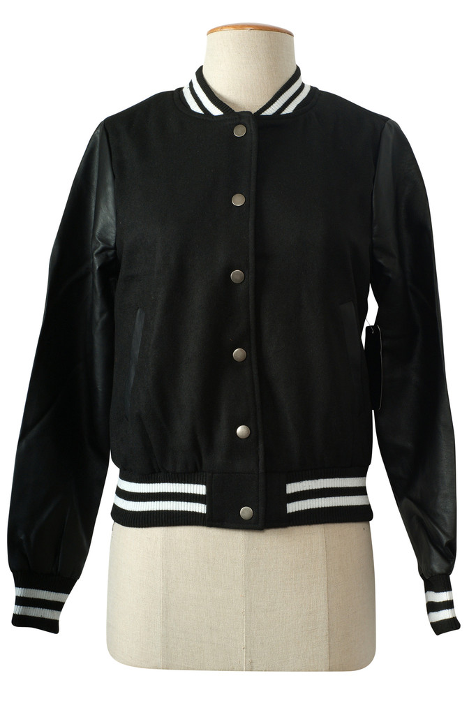 Wool bomber jacket women