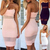 Sexy Women's Summer Bandage Bodycon Mesh Evening Party Cocktail Short Mini Dress