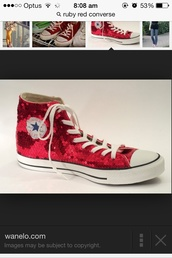 shoes,converse,ruby red