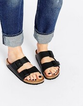 shoes,black shoes,birkenstocks,flat sandals