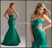 dress,green,mermaid