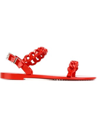 sandals red shoes