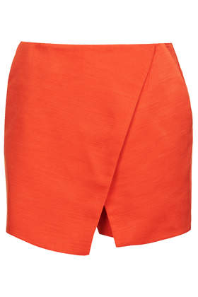 Red Ottoman Wrap Skort - Skirts - Clothing - Topshop