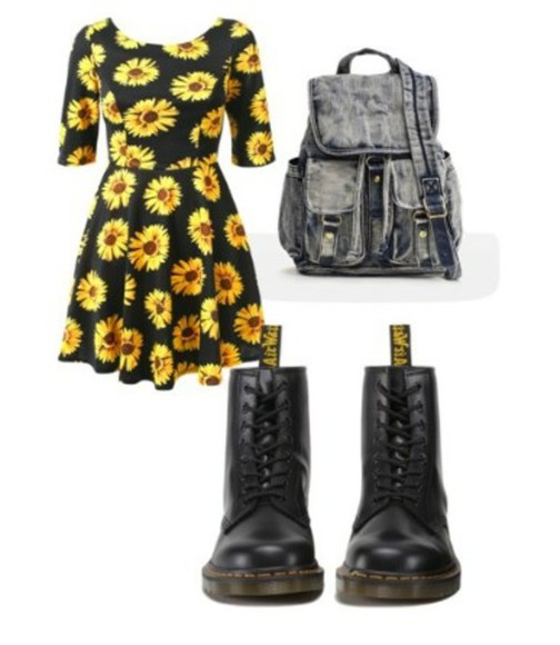 backpack floral daisy DrMartens