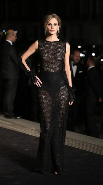 dress lace dress lace poppy delevingne gown sheer see through dress