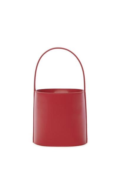 Staud Bissett Bag   Cherry Red