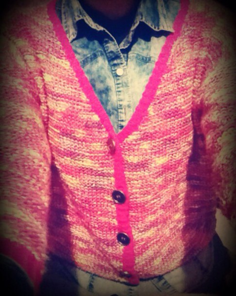 jacket pink belt