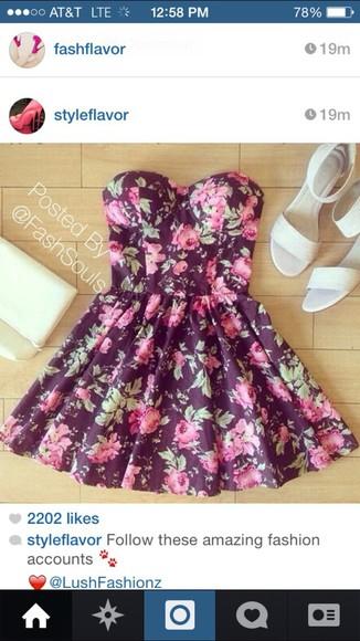 dress floral dress short dress floral print cute dress dresses,summer,cute