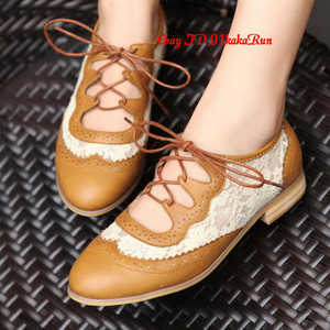 Womens shoes platform wedge med heels lace up creeper flats oxfords us 5 us 9