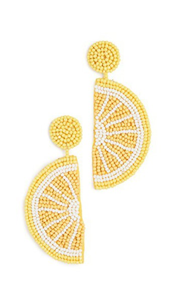 earrings yellow jewels