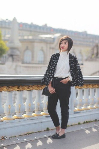 le monde de tokyobanhbao blogger jacket blouse jeans jewels bag
