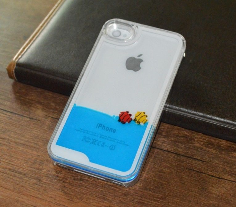 ... Lovers Floating Liquid Hard Case Cover FOR Iphone 4 4s Blue : eBay