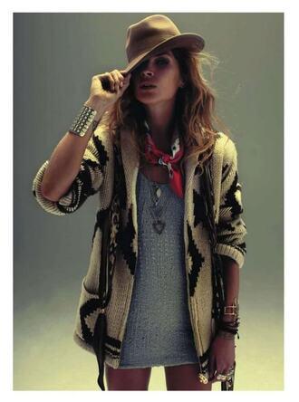 jacket knit cardigan print aztec erin wasson chuncky shrug comfort; navajo
