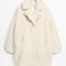 & other stories | faux fur cocoon coat | light beige