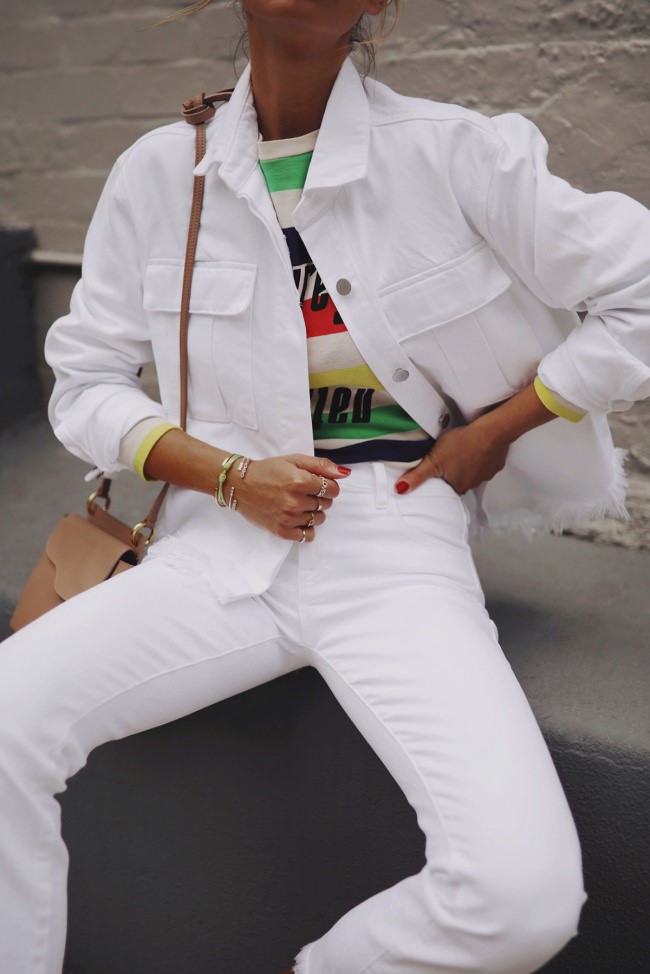 Fray Shannan Jacket In White
