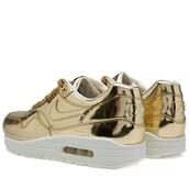 shoes,air max,gold,liquid gold air max 1,nike