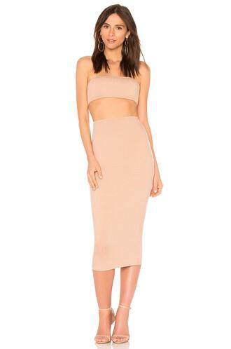skirt skirt set tan
