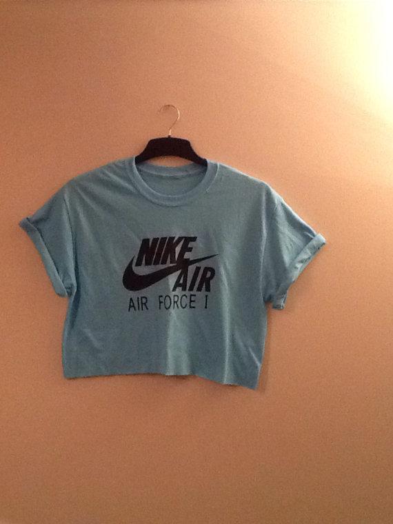 shoes, nike, nike air force 1, grey t shirt, sportswear, top