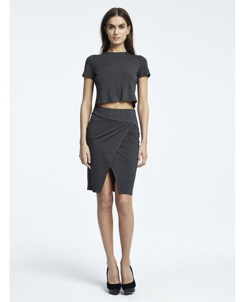 Twenty Tees Viscose Stretch Crop Top - Anthracite - The LALA Look