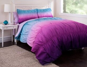 home accessory home decor accessories  blankets  decor  home decor  tie dye home design bedroom bedding ombre purple