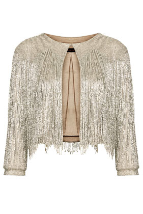 **Beaded Fringe Jacket by Kate Moss for  Topshop - Topshop USA