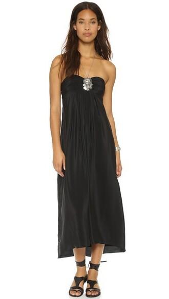 dress maxi dress maxi back black silk
