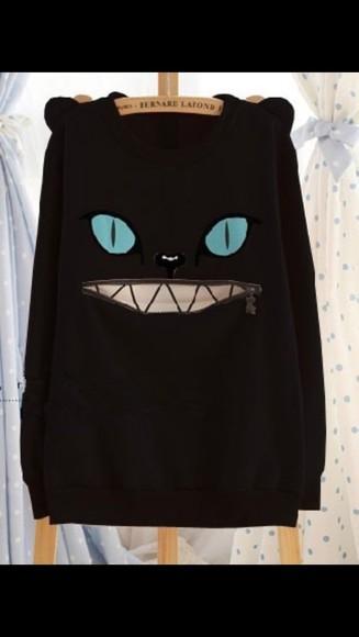 cat sweater cats grunge