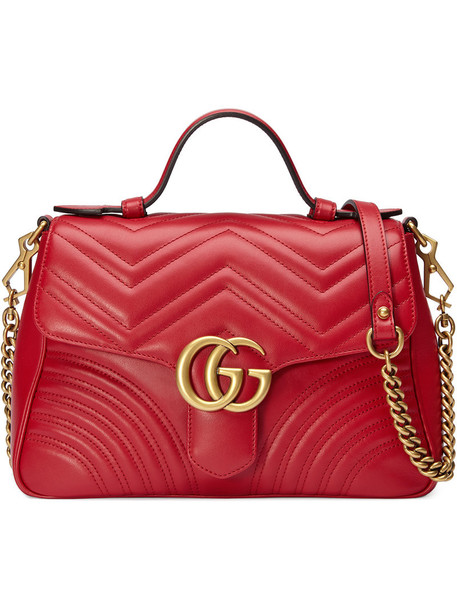 gucci metal women bag leather red