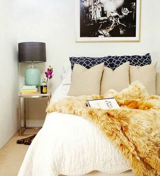 blanket throw fur bedroom coat make-up bedding yellow home accessory gold faux faux blanket throw blanket classy