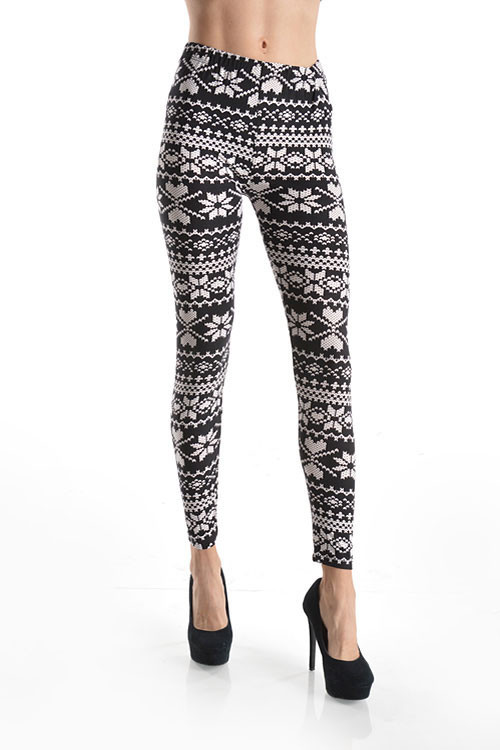 Black white nordic sweater print leggings – betsy boo's boutique