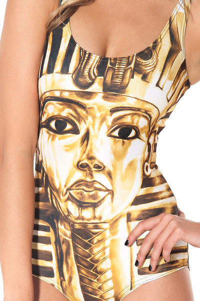 King Tut Pharaoh Print Swimsuit – Glamzelle
