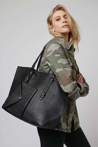 bag leather tote bag black bag