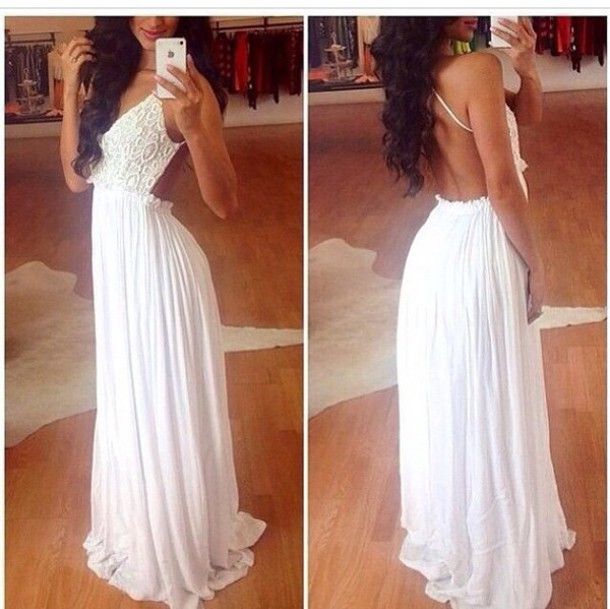 dress white dress maxi dress lace dress