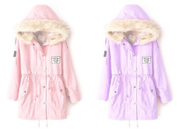 Pink Military Coat - Coat Nj