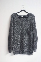 sweater,grey,loose fit sweater,knitted sweater