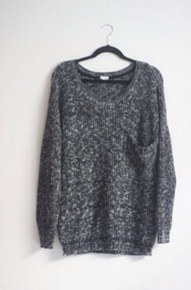 sweater loose fit sweater knit sweater grey