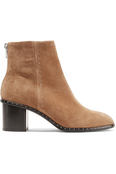 Rag & Bone suede ankle boots studded ankle boots suede camel shoes